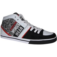 Baskets montantes Vision Street Wear samples shoes VISION SANTIAGO WHITE RED BLACK MEN