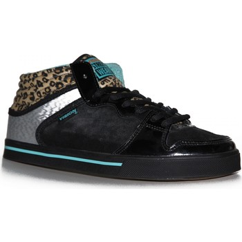 Baskets montantes Vision Street Wear samples shoes  LAFONDA BLACK LEOPRAD WOMEN
