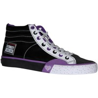 Baskets montantes Vision Street Wear samples shoes  PATENT HI BLACK WHITE PURPL