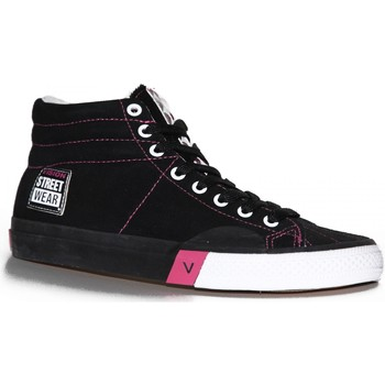 Baskets montantes Vision Street Wear samples shoes  SUEDE HI BLACK MAGENTA WOME