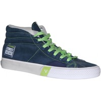 Baskets montantes Vision Street Wear samples shoes  SUEDE HI NAVY GREEN LIME WO