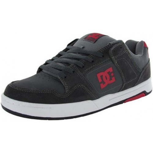 DC Shoes Baskets Homme  HACKER Dark Shadow White Gris - Chaussures Baskets basses Homme