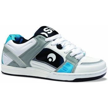 Chaussures Homme Baskets basses Osiris Sample Jos1 White grey cyan EU42 US9 Blanc