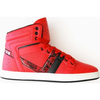 Chaussures Homme Baskets montantes Osiris Basket montante slim Cthi Red black white Taille 42 9US Modèle Rouge