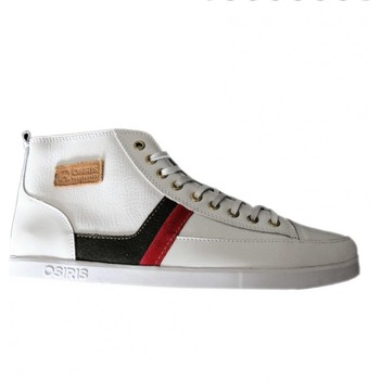Chaussures Homme Baskets montantes Osiris Currency White (Sample modèle exposition 42 / 9US) Blanc