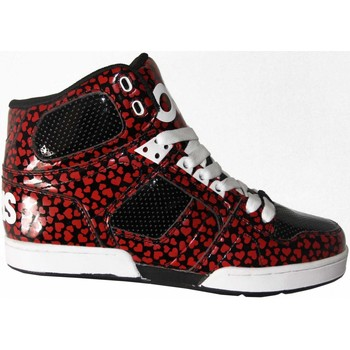 Chaussures Homme Baskets montantes Osiris Sneakers Homme Sample Nyc 83 SLM Black red hart 42 9US Modèle e Noir