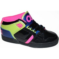Chaussures Homme Baskets montantes Osiris NYC 83 MID Black lime pink EU37.5 USW7 NOIR
