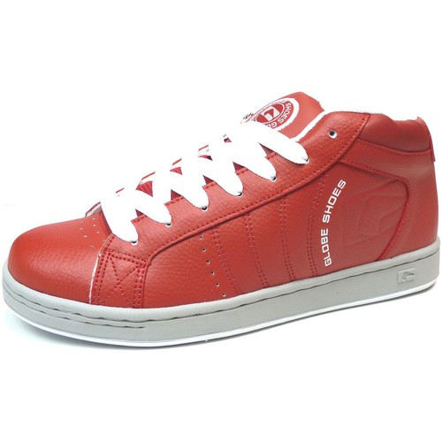 Globe Sneakers Homme Vintage  Focus Mid Red White US9 EU42 Exclusivité Rouge - Chaussures Basket montante Homme