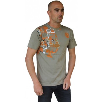 T-shirts manches courtes Hixsept Tee-shirt graffiti  Typo 953 Green