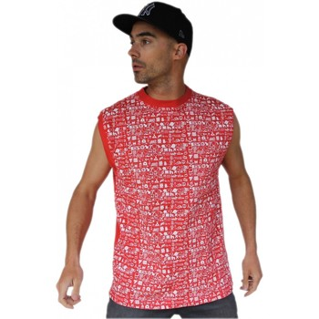 T-shirts manches courtes Hixsept Tee-shirt debardeur graffiti  Vector Red