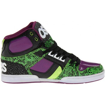 Chaussures Homme Baskets montantes Osiris Sp  NYC 83 Green Black Purple EU42 9US Multicolore