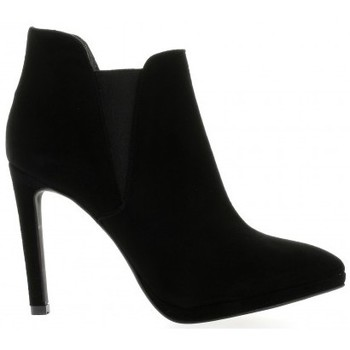 Chaussures Femme Low boots Nuova Riviera Low boots cuir velours Noir