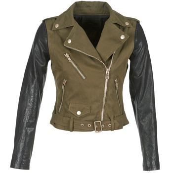 Vêtements Femme Vestes en cuir / synthétiques Diesel L-LUPUS-C Kaki / Noir