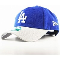 Accessoires textile Casquettes New Era Casquette New Era 940 Los Angeles Dodgers 9Forty Heather Team Bl Bleu roi