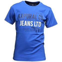 Vêtements Garçon T-shirts manches courtes Kaporal T-Shirt garçon  Done Roy Bleu