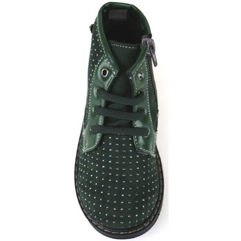 Chaussures Fille Bottines Didiblu chaussures fille DIDIbleu bottines vert daim AJ952 vert