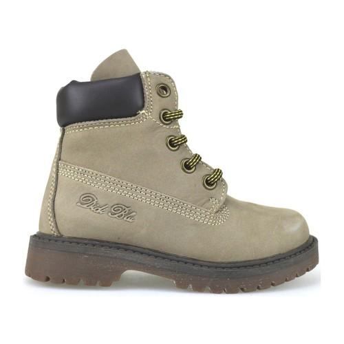 Chaussures Fille Bottines Didiblu DIDIbleu bottines beige cuir suédé brun foncé AJ959 multicolor
