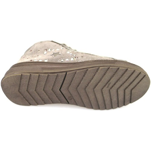 Chaussures Fille Baskets montantes Didiblu chaussures fille DIDIbleu sneakers beige daim AH126 beige