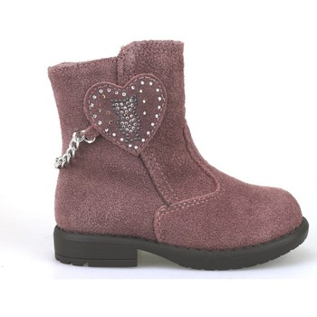 Chaussures Fille Boots Didiblu DIDIbleu bottines rose daim AH169 rose