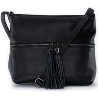 Sacs Bandoulière Oh My Bag Sac à main bandoulière en cuir femme - Modèle London noir
