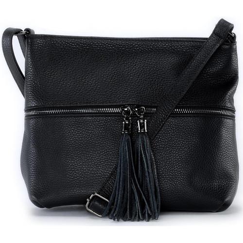 Sacs Femme Sacs Bandoulière Oh My Bag Sac à main bandoulière en cuir femme - Modèle London noir NOIR