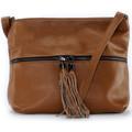 Oh My Bag Sac à main bandoulière en cuir femme - Modèle London cognac fonc