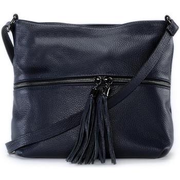 Sacs Femme Sacs Bandoulière Oh My Bag Sac à main bandoulière en cuir femme - Modèle London bleu foncé BLEU FONCE