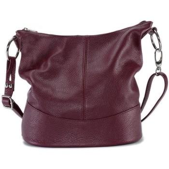 Sacs Bandoulière Oh My Bag Sac à main femme en cuir - Modèle Beaubourg rouge foncé