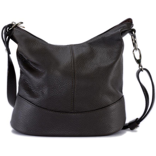Sacs Femme Sacs Bandoulière Oh My Bag Sac à main femme en cuir - Modèle Beaubourg marron foncé MARRON FONCE