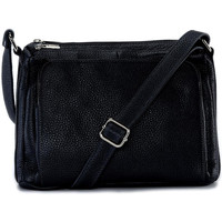 Sacs Bandoulière Oh My Bag Sac à main bandoulière en cuir femme - Modèle Manattan noir