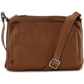 Sacs Bandoulière Oh My Bag Sac à main bandoulière en cuir femme - Modèle Manattan cognac fo