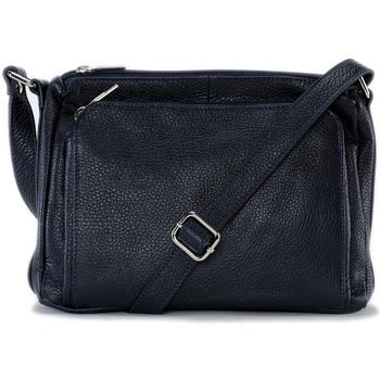 Sacs Femme Sacs Bandoulière Oh My Bag Sac à main bandoulière en cuir femme - Modèle Manattan bleu fonc BLEU FONCE