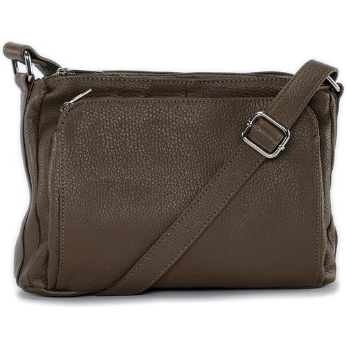 Sacs Femme Sacs Bandoulière Oh My Bag Sac à main bandoulière en cuir femme - Modèle Manattan taupe fon TAUPE FONCE