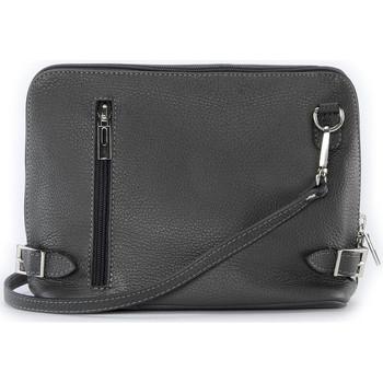 Sacs Bandoulière Oh My Bag Sac à main bandoulière en cuir femme - Modèle Mia gris foncé