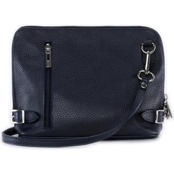 Sacs Femme Sacs Bandoulière Oh My Bag Sac à main bandoulière en cuir femme - Modèle Mia bleu foncé BLEU FONCE