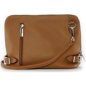 Sacs Bandoulière Oh My Bag Sac à main bandoulière en cuir femme - Modèle Mia cognac foncé