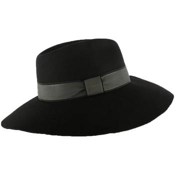 Accessoires textile Femme Chapeaux Christys' London Chapeau Femme Noir Kimberley par Christys London Noir