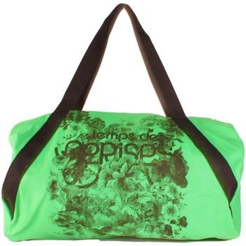 Sacs Femme Sacs porté main Le Temps des Cerises Sac  ECO 4 lin Vert Vert