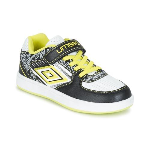 Chaussures Garçon Baskets basses Umbro COGAN Noir / Blanc / Jaune