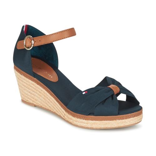 698b589cd97 Chaussures Femme Sandales et Nu-pieds Tommy Hilfiger ELBA 40D Marine    Marron