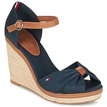 Chaussures Femme Sandales et Nu-pieds Tommy Hilfiger ELENA 56D Marine / Marron