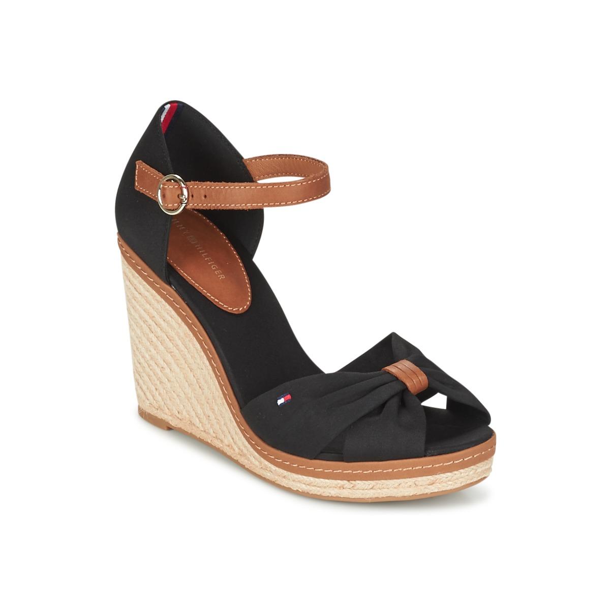 d2d7776c77a Chaussures Femme Sandales et Nu-pieds Tommy Hilfiger ELENA 56D Noir   Marron