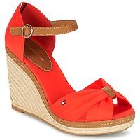 Chaussures Femme Sandales et Nu-pieds Tommy Hilfiger ELENA 56D Corail / Marron