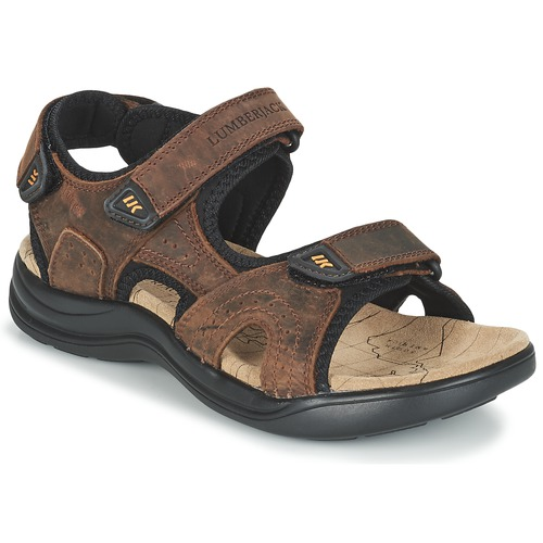 Lumberjack EARTH Marron - Chaussures Sandale Homme