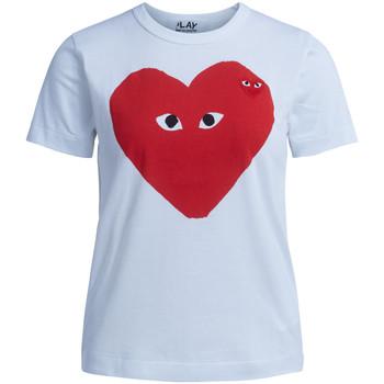 Vêtements Femme T-shirts manches courtes Comme Des Garcons T-shirt  blanche avec coeur rouge Blanc