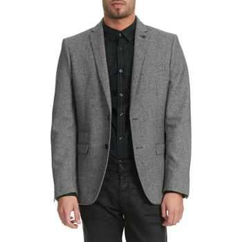 Vêtements Homme Vestes / Blazers Selected Blazer  One Creed Gris Homme Noir