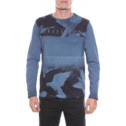 Vêtements Homme T-shirts manches longues Ritchie T-SHIRT JITECK Bleu