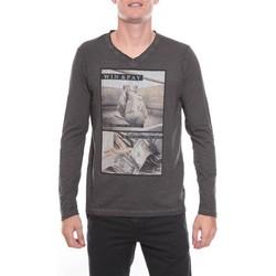 Vêtements Homme T-shirts manches longues Ritchie T-SHIRT JOXING Gris foncé