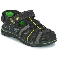 Chaussures Garçon Sandales et Nu-pieds Primigi TEVEZ Noir / Vert