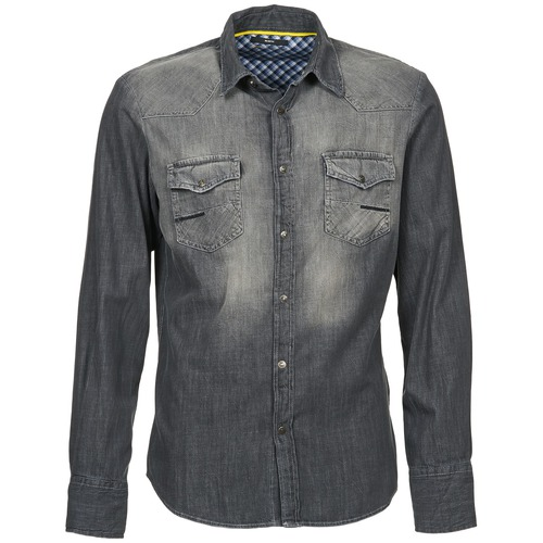 Vêtements Homme Chemises manches longues Meltin'pot CAREY Gris